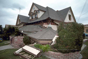 A house damaged by the Loma Prieta earthquake. Photo credit: U.S. Geological Survey.