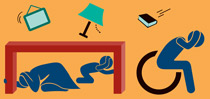 Step 5: Drop, Cover, and Hold On