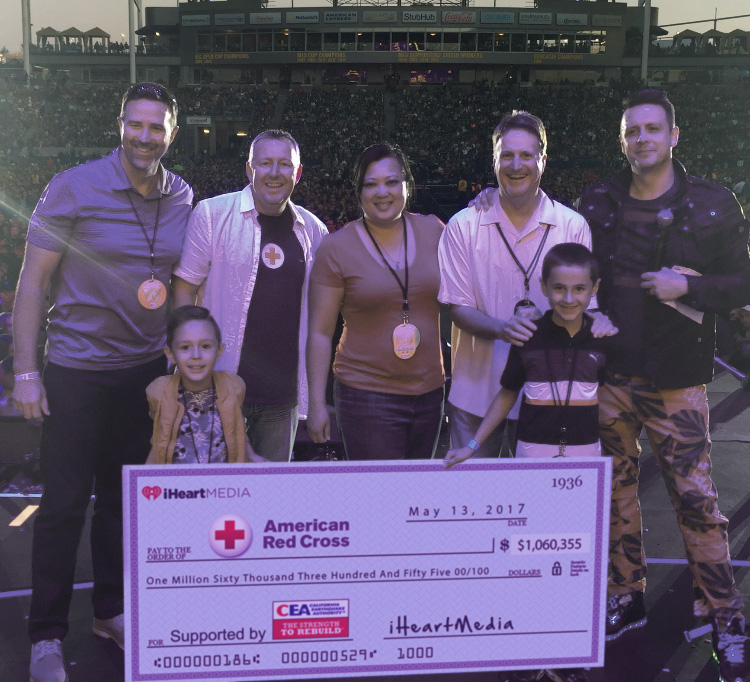 California Earthquake Authority Educates Californians, Presents Auction Proceeds to American Red Cross at Wango Tango Concert 2017